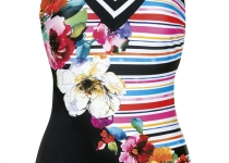Sunflair Flowers and stripes 22258